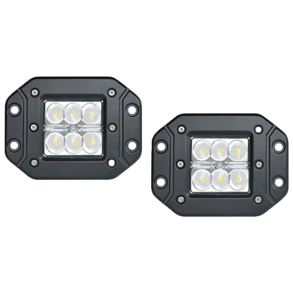 2x 30W CREE Flush Mount LED Light Bar Spot Work Offroad 4WD Truck VR 36W/54W V13-1218FC-SPOT*2