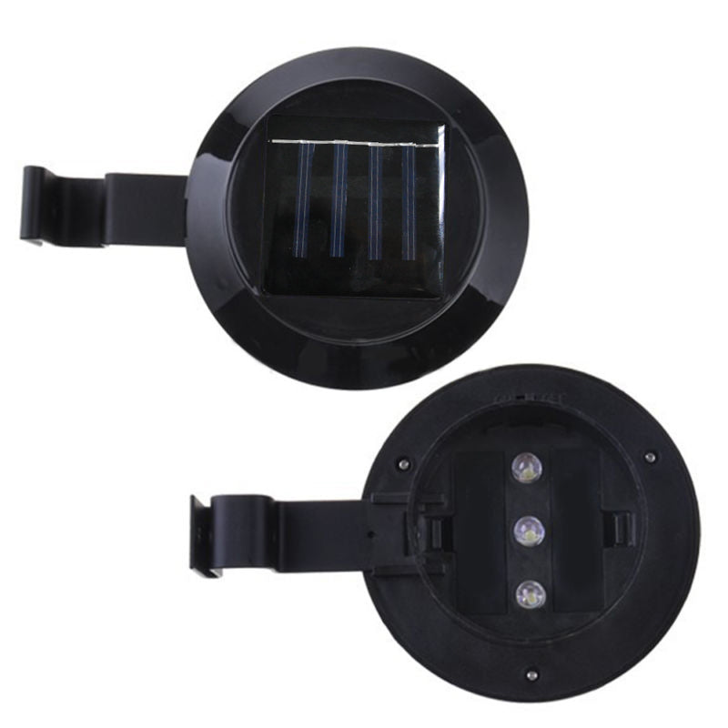 4X Solar Gutter Light Solar Fence Light Yard Wall Pathway Lamp Outdoor Garden V13-4LED-FENCE