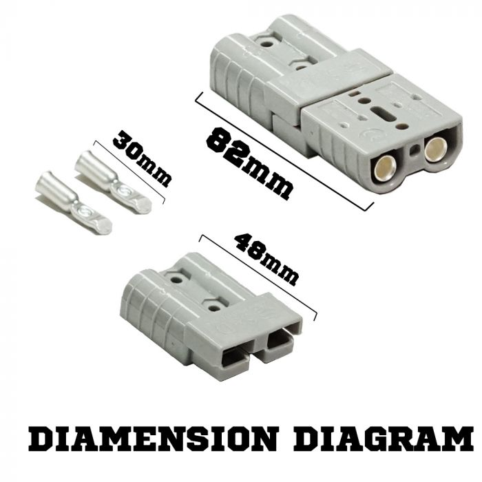 6X Premium Anderson style plug 50AMP exterior connector DC power solar caravan V13-AND50A*6