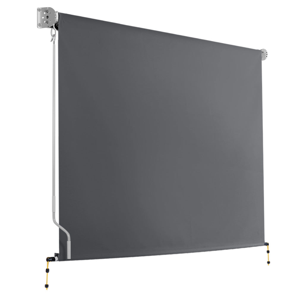 2.4m x 2.5m Retractable Roll Down Awning - Grey AWN-DOWN-PS-24-GREY