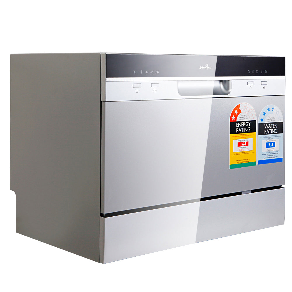 5 Star Chef Electric Benchtop Dishwasher Silver BDW-6-02A-SI