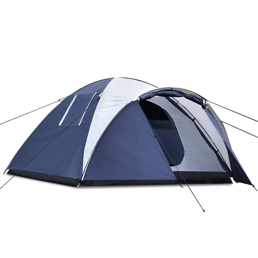 4 Person Canvas Dome Camping Tent - Navy & Grey CAMP-TENT-DOME4-NA for $84.99