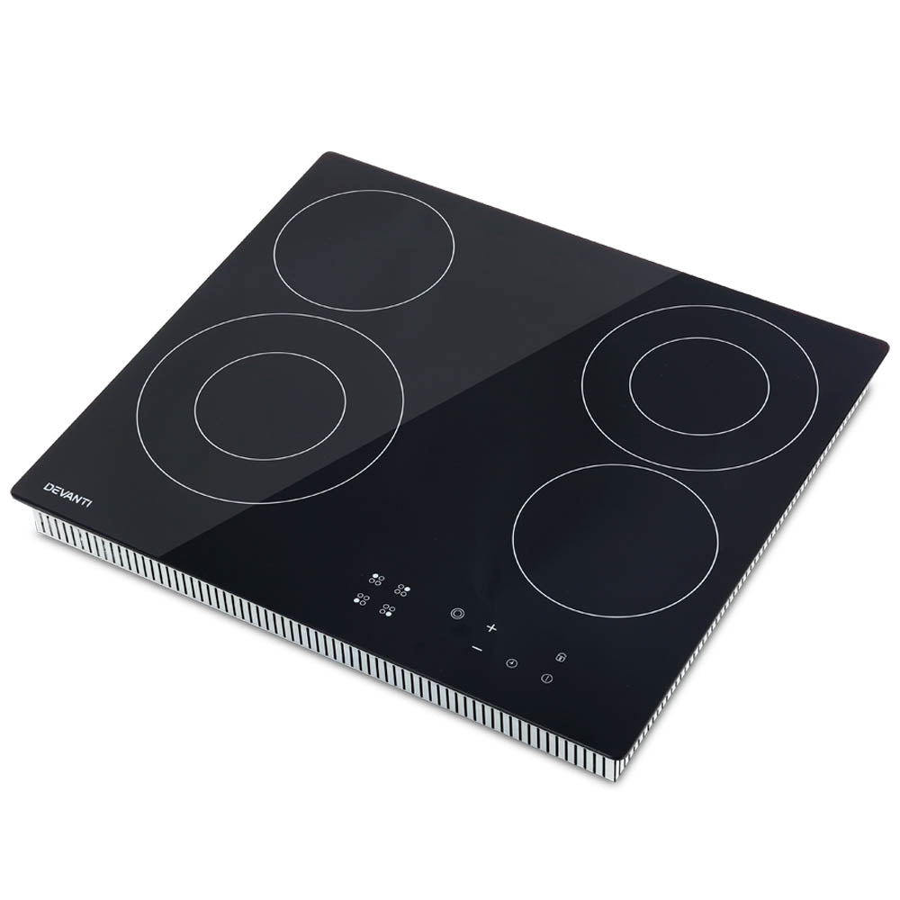 6300W Four Burner Ceramic Cooktop - Black CCT-4B-6Z-TOUCH-BK