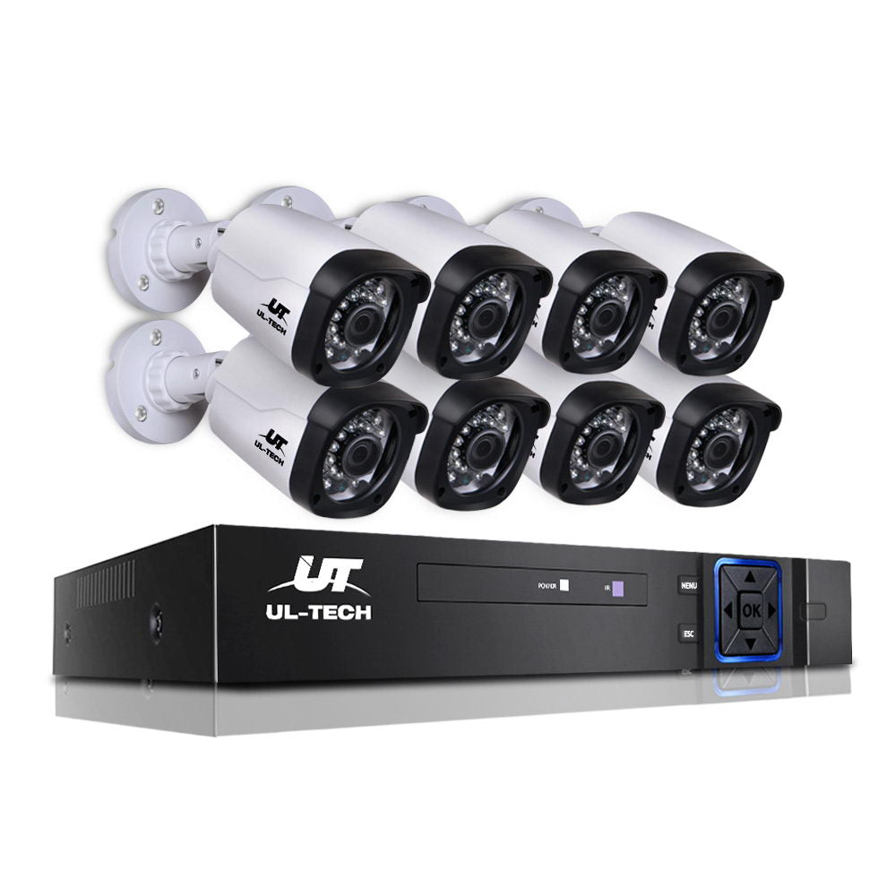 1080P Eight Channel HDMI CCTV Security Camera CCTV-8C-8B-BKWH