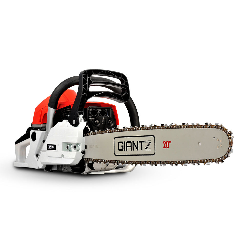 62CC Commercial Petrol Chainsaw - Red & White CSAW-62CC-20IN-RDWH