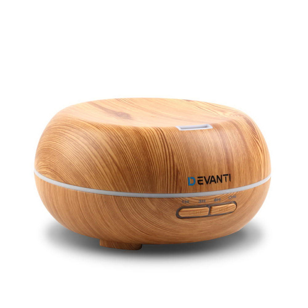 200ml 4-in-1 Aroma Diffuser - Light Wood DIFF-N503W-LW