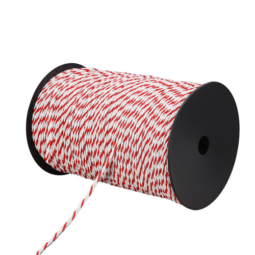 500m Roll Electric Fence Energiser Poly Rope FIK-ROPE-500M