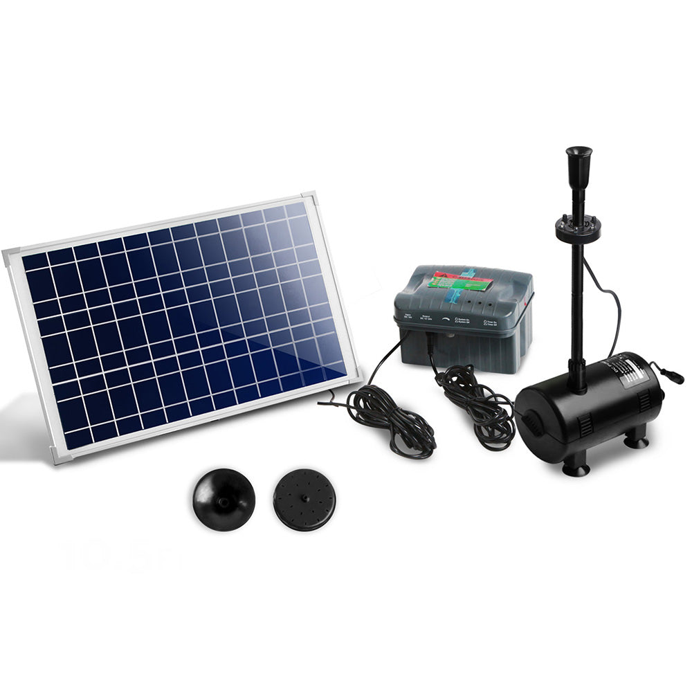 1600L/H Submersible Fountain Pump with Solar Panel FOUNT-POND-200-DX
