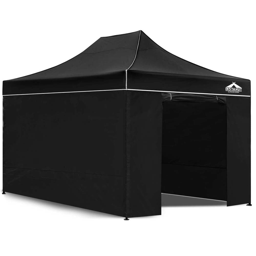 3x4.5M Outdoor Gazebo - Black GAZEBO-C-3X45-DX-BLACK