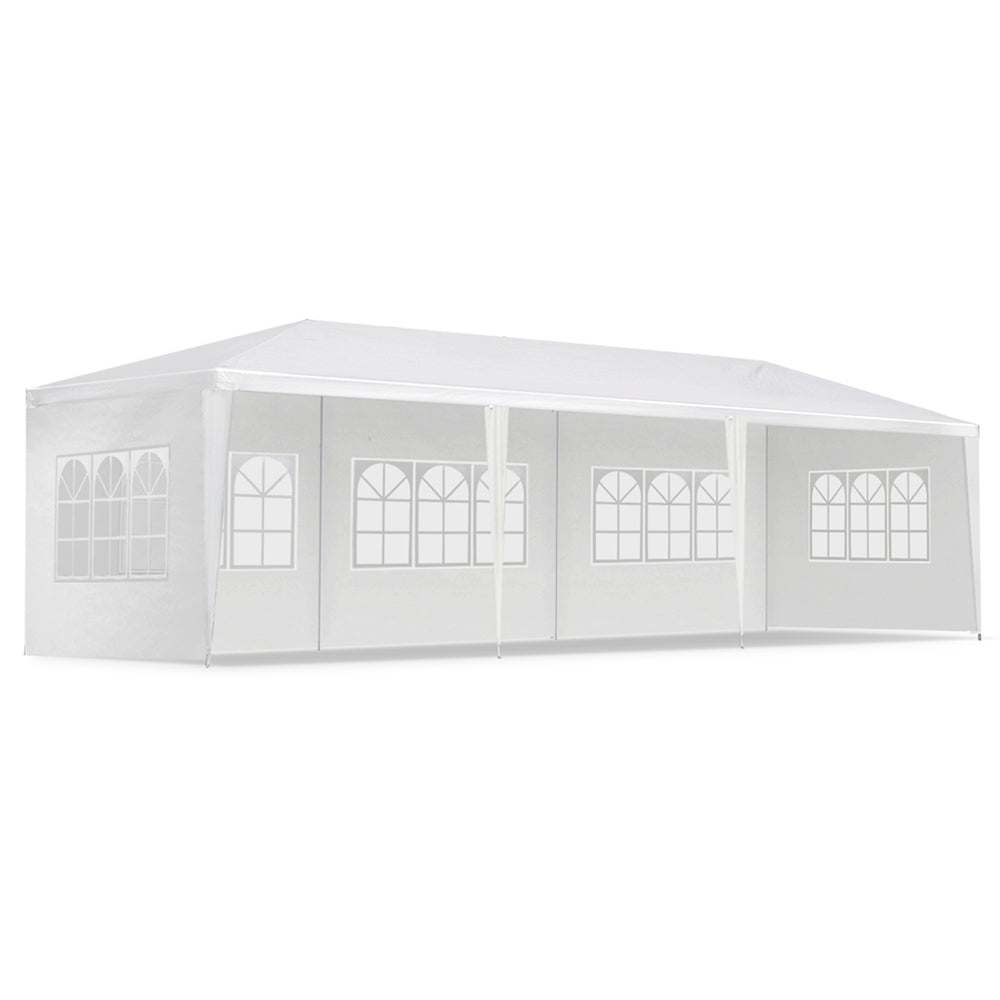 3x9M All Weather Gazebo - White GAZEBO-WED-3X9-5W-WH