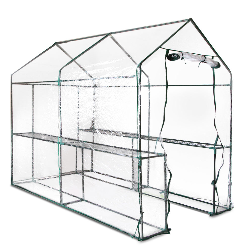 1.9x1.2x1.9M Walk In Transparent Green House GH-WALK-19X12-TP