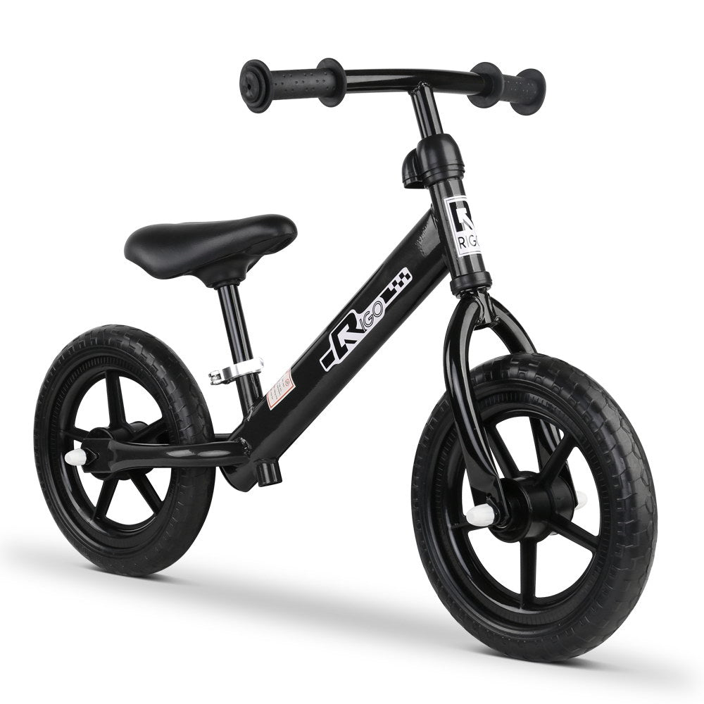 12 Inch Kids Balance Bike - Black KBB-STEEL-12IN-BK
