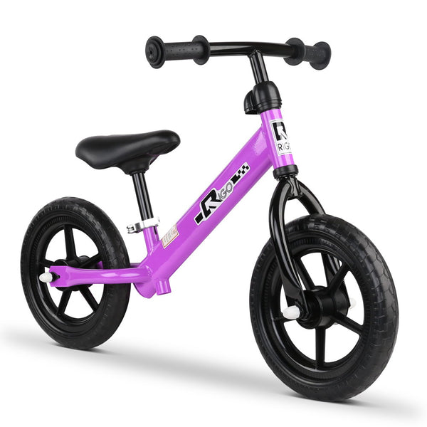 12 Inch Kids Balance Bike - Purple KBB-STEEL-12IN-PP