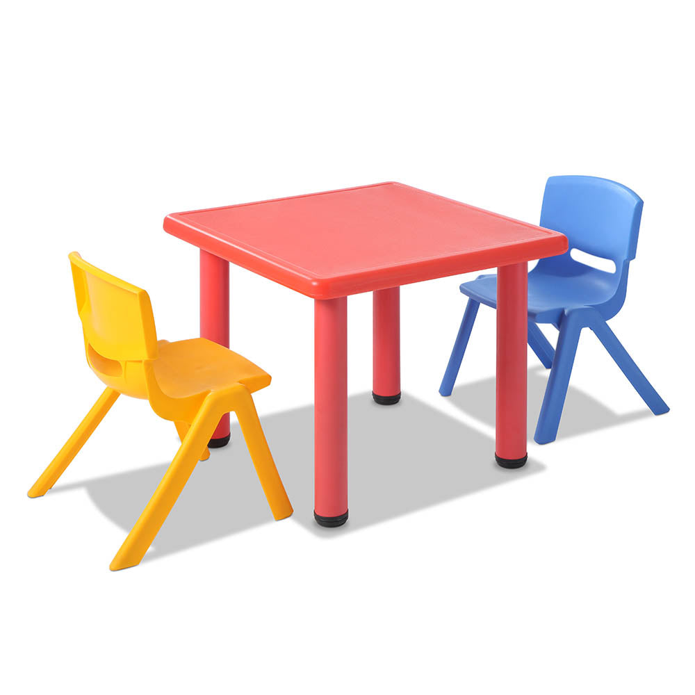 3 Piece Kids Table and Chair Set - Red KPF-TBCH-RD-3PC