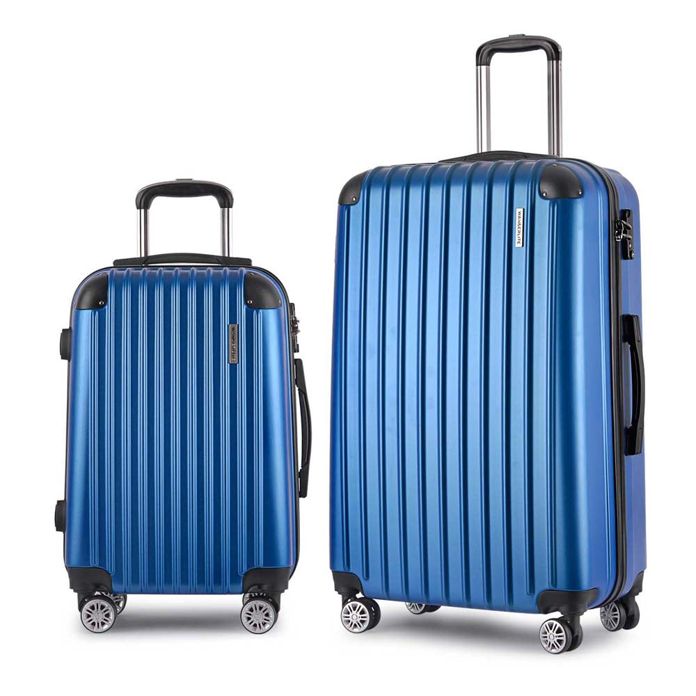 2 Piece Lightweight Hard Suit Case - Blue LUG-ABS-2IN1-BLUE
