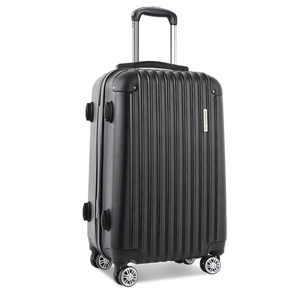 28 Inch Luggage Suitcase Trolley - Black LUG-ABS-CLA-28-BK