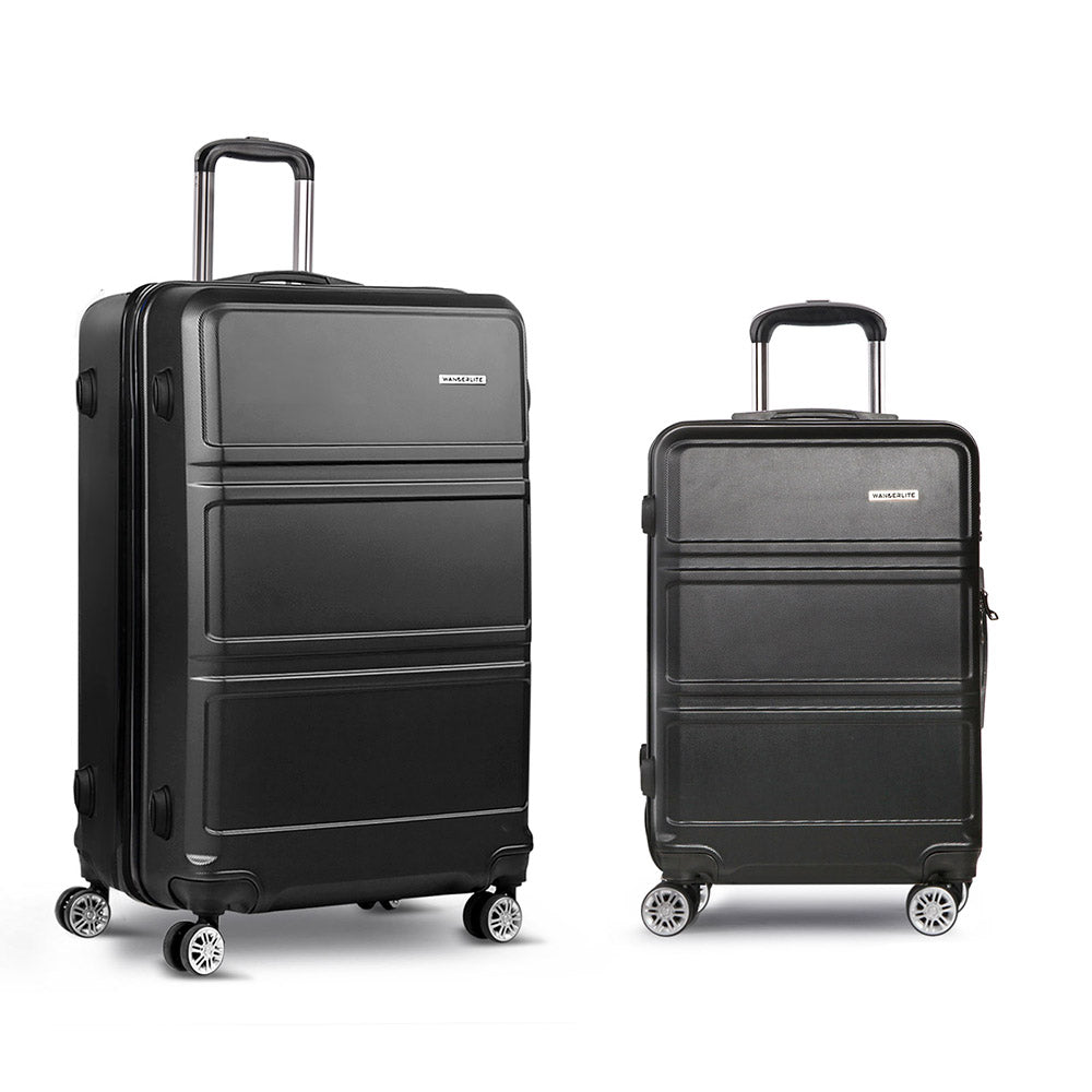 20inch and 28inch Lightweight Hard Suit Case - Black LUG-ABS-LINE-2IN1-BLACK