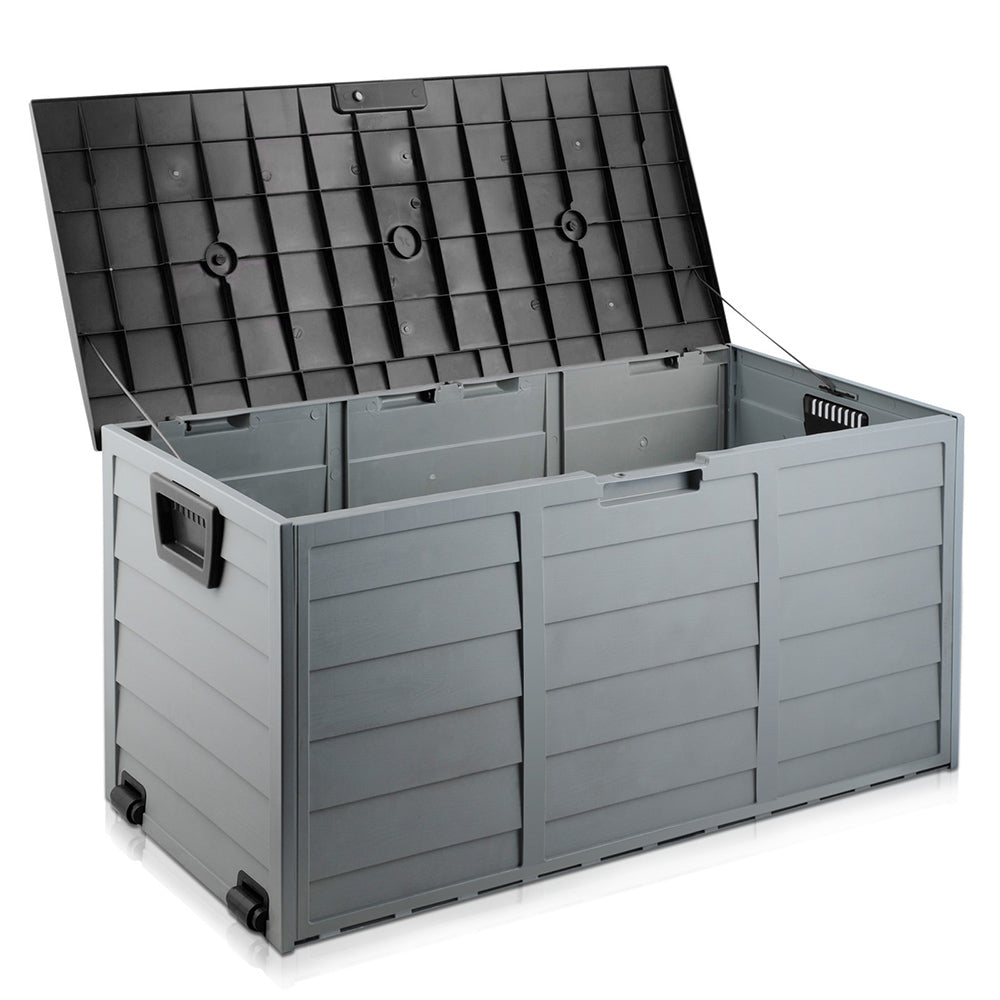 290L Outdoor Weatherproof Storage Box - Black OSB-290L-BK