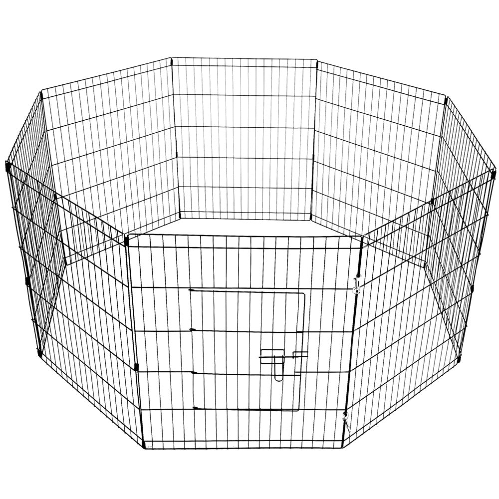 30inch Pet Play Pen - Black PET-DOGPLAYPEN-30