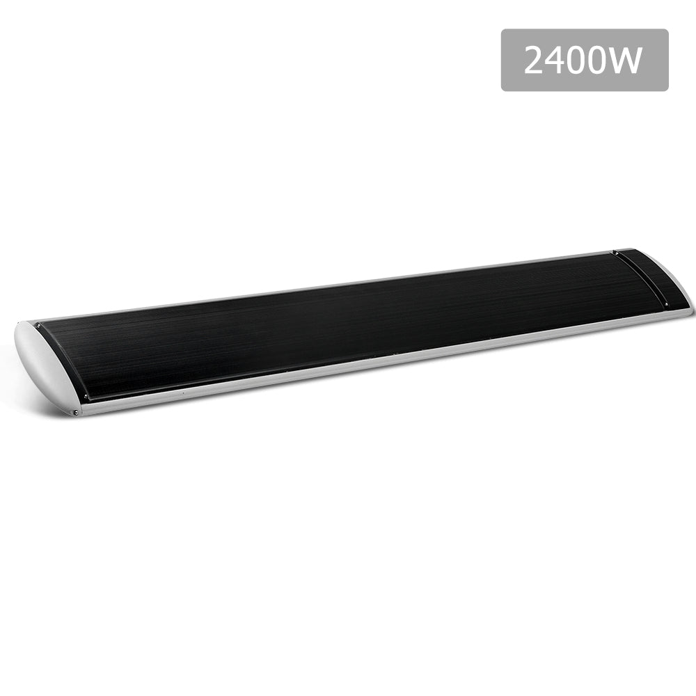 2400W Slimline Infrared Heater Panel  RHP-SLIM-2400-BK