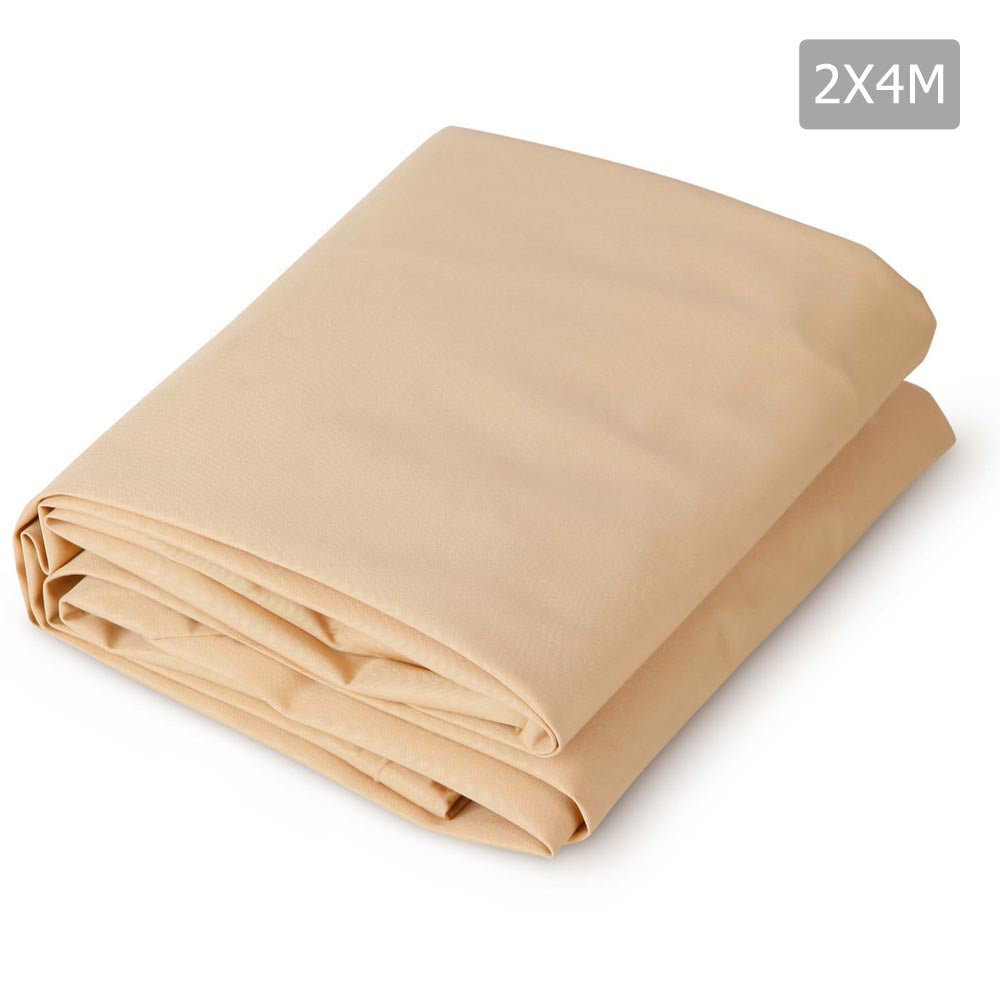 2 x 4m Waterproof Rectangle Shade Sail Cloth - Sand Beige SAIL-WP-2X4-Q-SAND