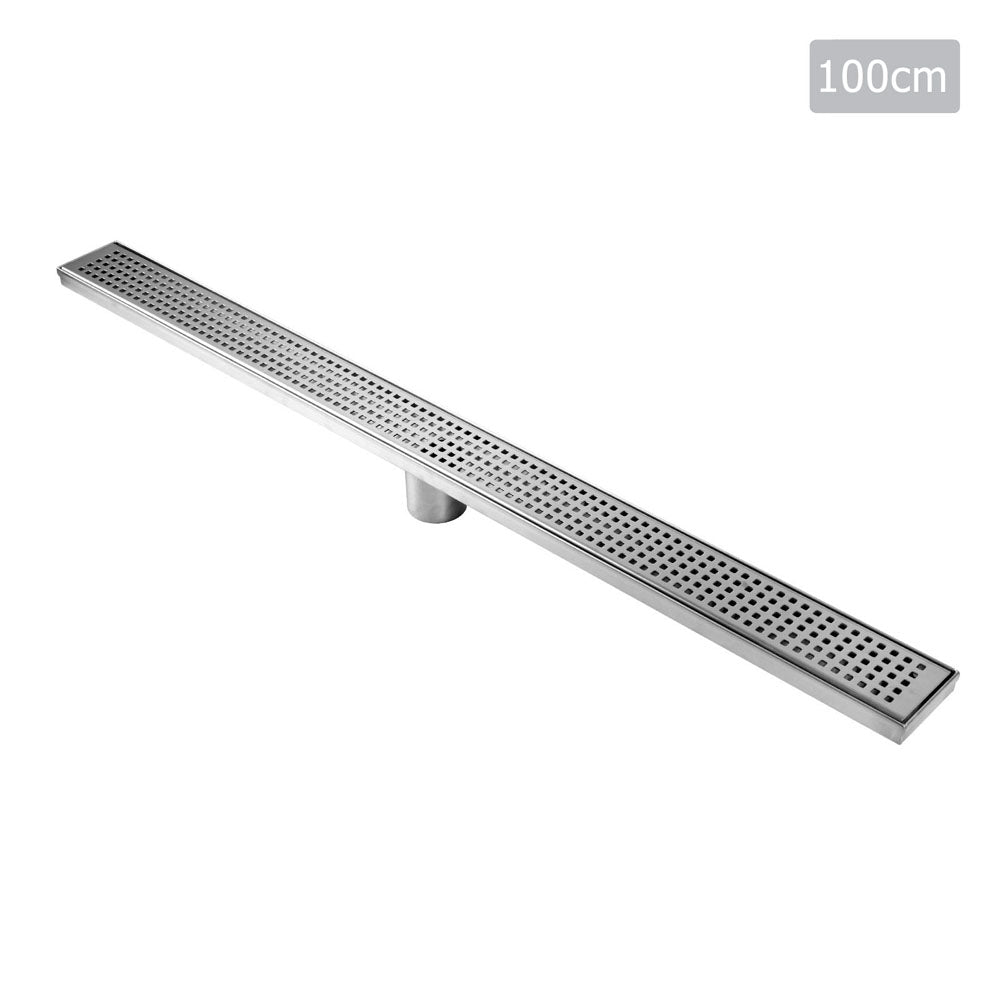 Square Stainless Steel Shower Grate Drain Floor Bathroom 1000mm SSG-SQUARE-1000
