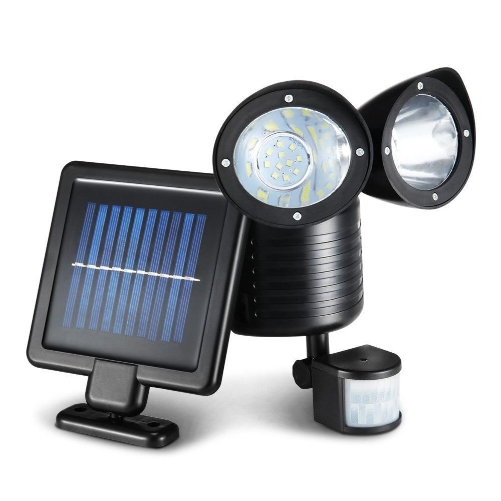 22 LED Solar Powered Dual Flood Lamp SSL-C-DUAL-BK-22