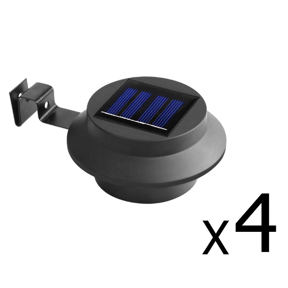 4 x Solar Gutter Light - Black SSL-C-GUT-BK-FC4
