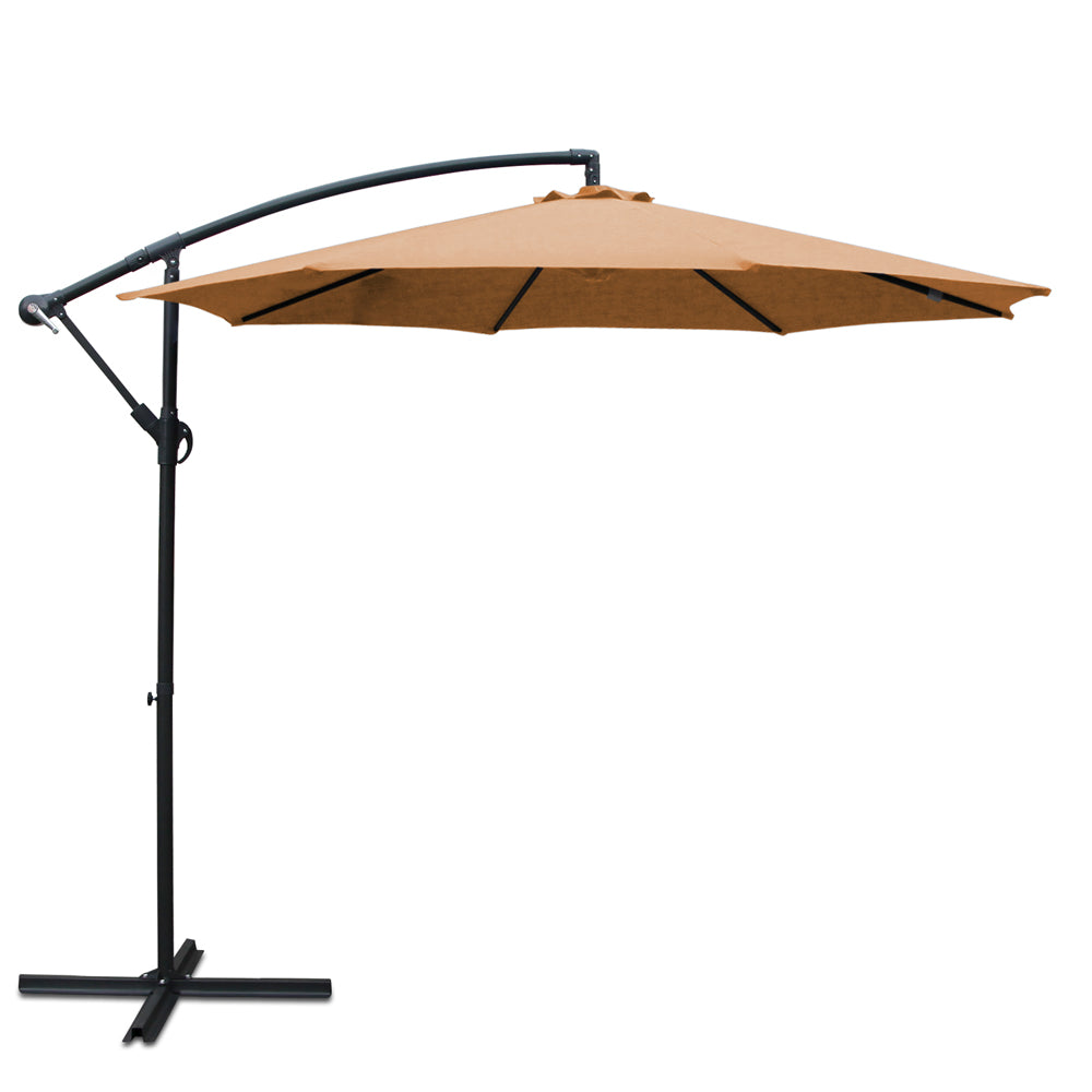 3M Outdoor Umbrella - Beige UMB-BAN-8RIB-BEIGE