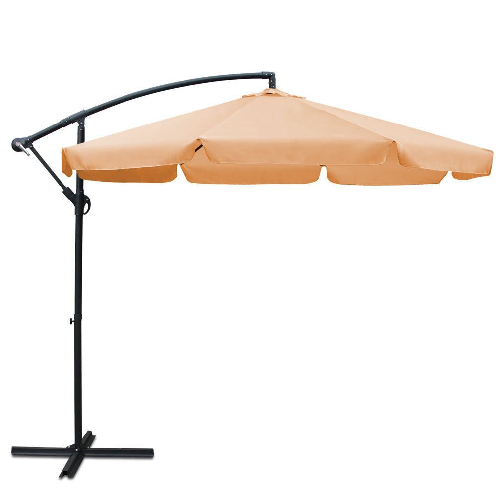 3M Outdoor Umbrella Beige UMB-FLAP-8RIB-BEIGE