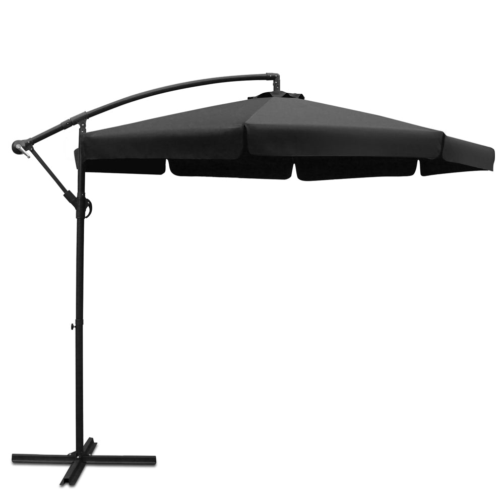 3M Outdoor Umbrella Black UMB-FLAP-8RIB-BLACK