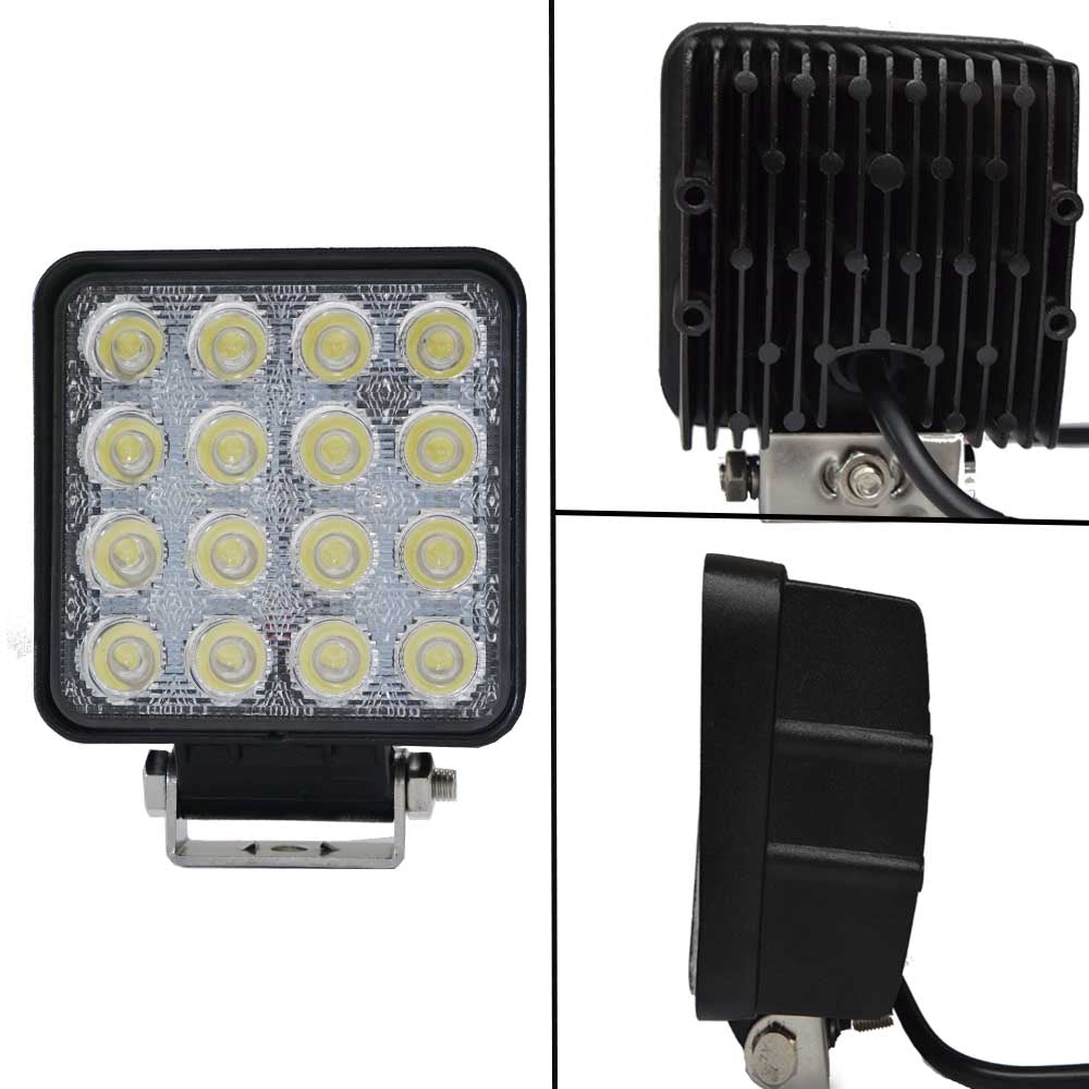 2x 80W LED Work Light Flood Lamp Offroad Tractor Truck 4WD SUV Philips Lumileds V13-WL-080S-FLOOD*2