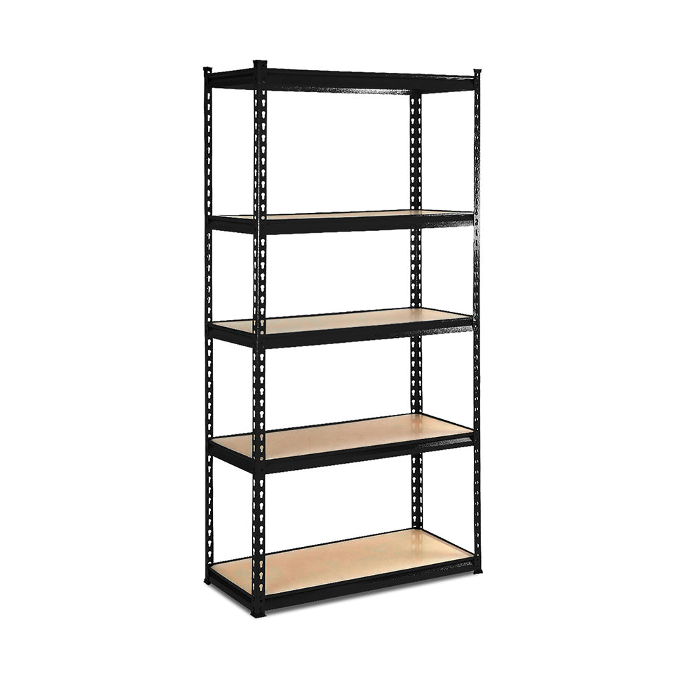 5-Tier Shelving Unit - Black WR-9X18-BK