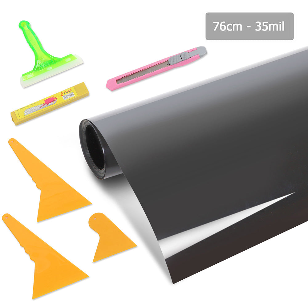 35% 7M Car Home Film Black Window Tinting Kit  WTINT-76CM-VLT35-5C