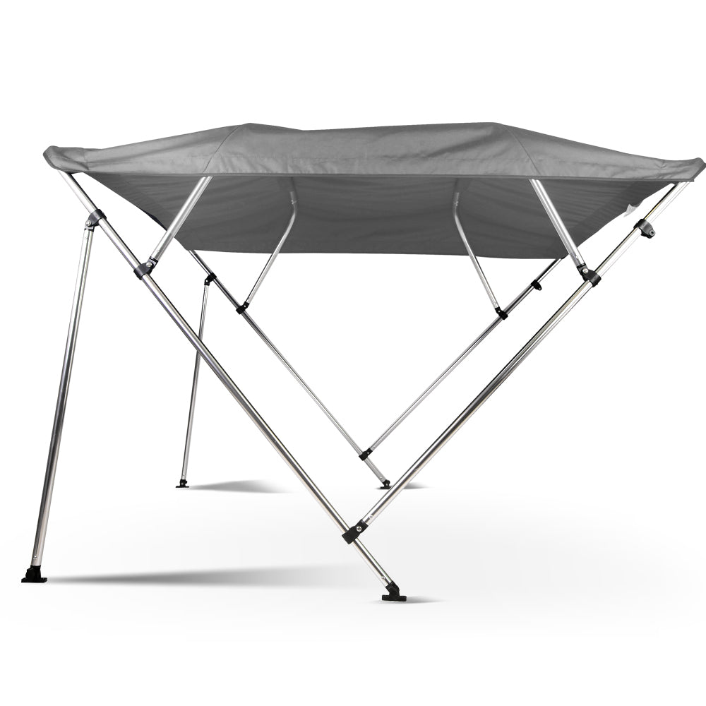 1.5-1.7M Boat Top Canopy - Grey BMT-4-1517-200-GR
