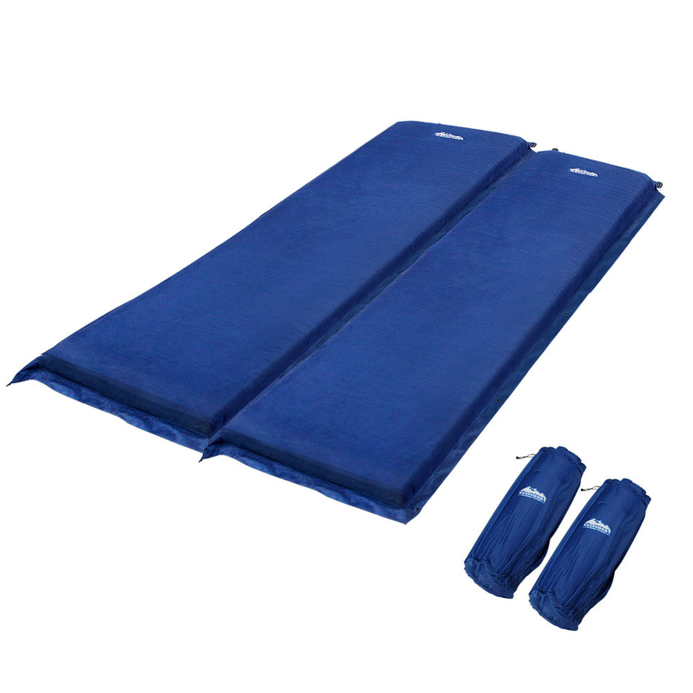 Self inflating Mattress Double 10cm Blue CAMP-MAT-SUE-DOU-NA