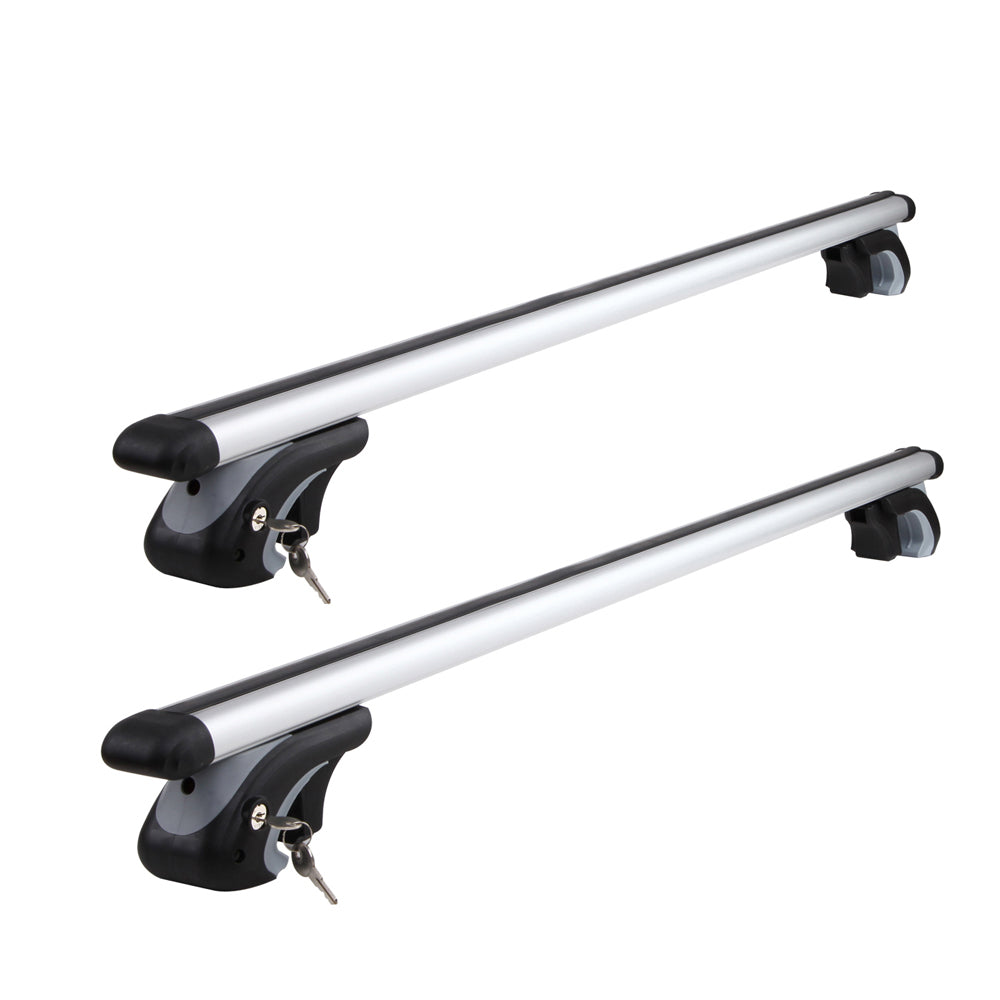 1200mm Universal Aluminium Lockable Roof Rack - Silver CAR-ROBAR-B120