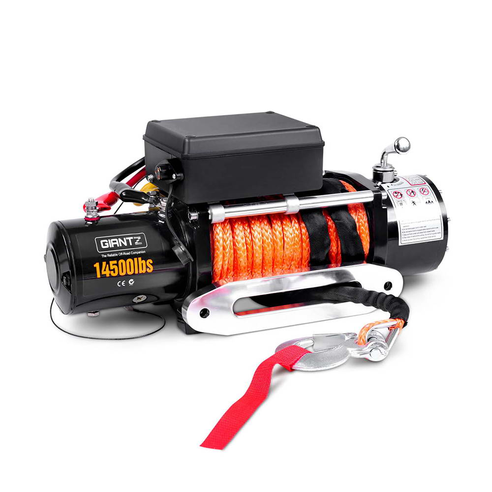 14500LBS Wireless Electric Winch Remote with Synthetic Rope Cable  CAR-WINCH-14500-SR-SET