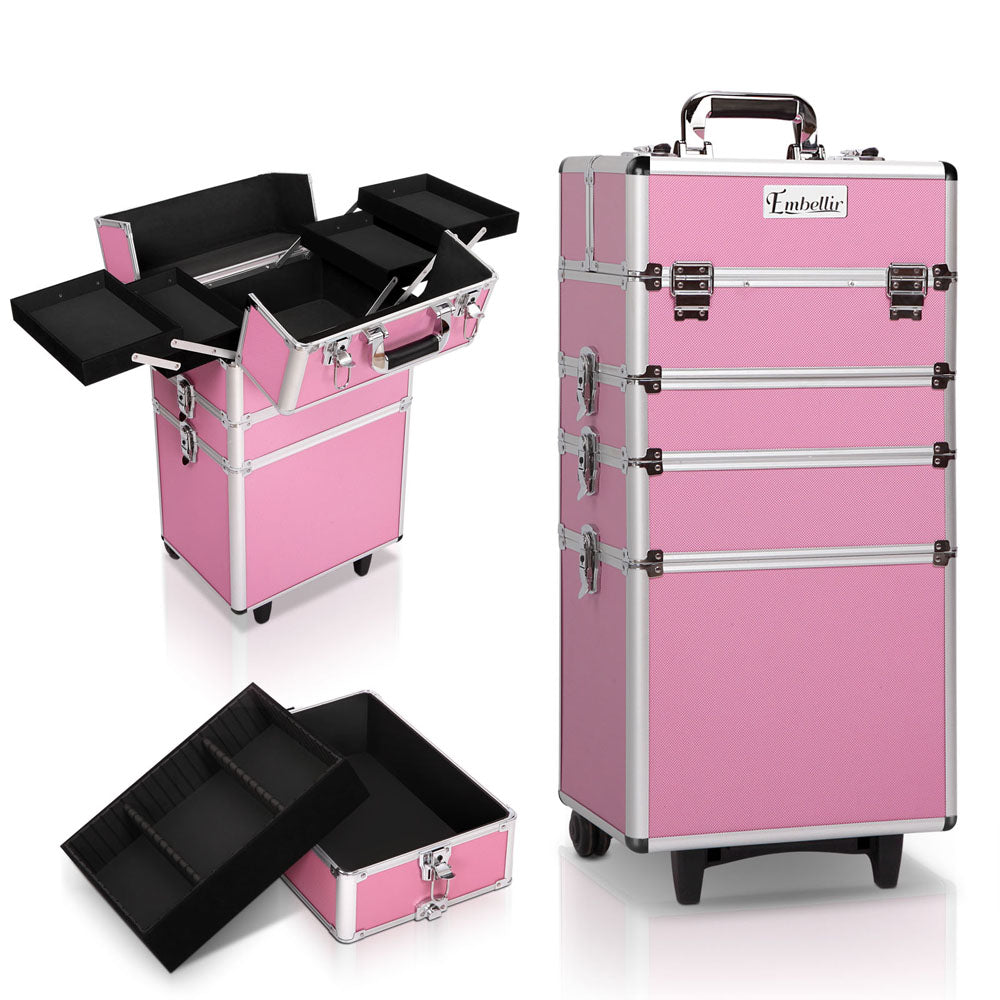7 in 1 Portable Cosmetic Trolley - Pink CASE-MU-4T-081-PI