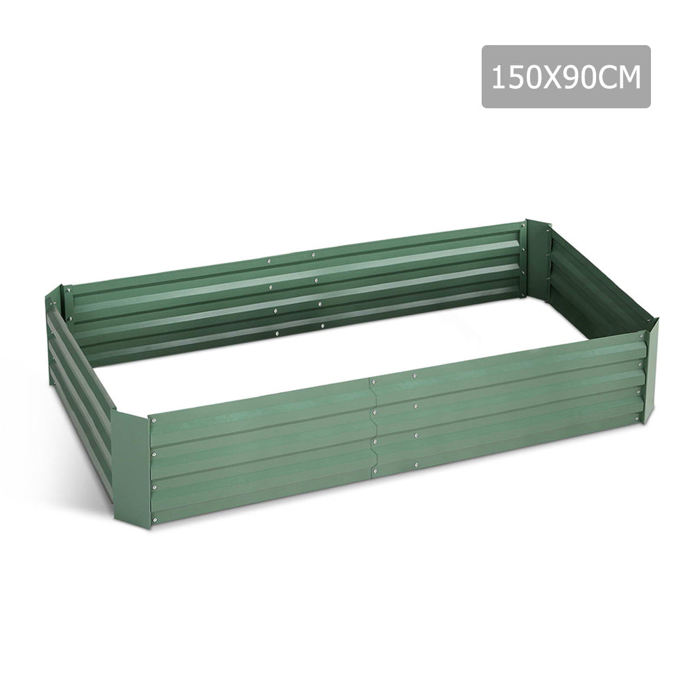 150 x 90cm Galvanised Steel Garden Bed - Green GARDEN-15090-GREEN