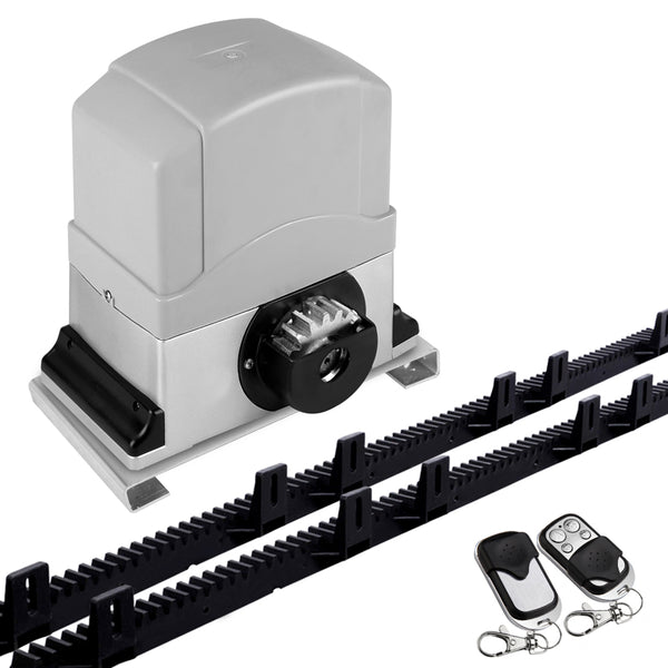 12000KG Automatic Sliding Gate Opener 6M with Remotes GO-SGO-DSR1200-AC-RAILX3