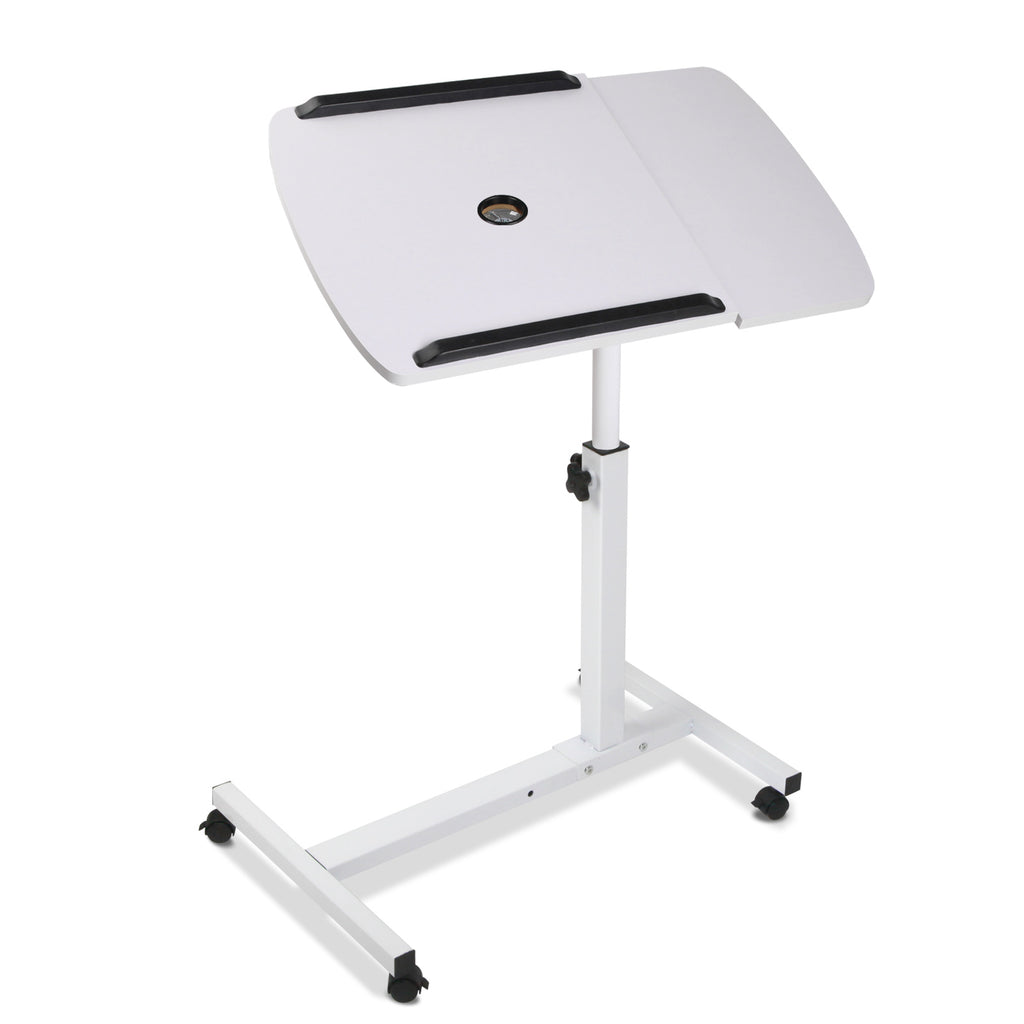 Rotating Mobile Laptop Adjustable Desk w/ USB Cooler White LA-DESK-GEN-L2-WH