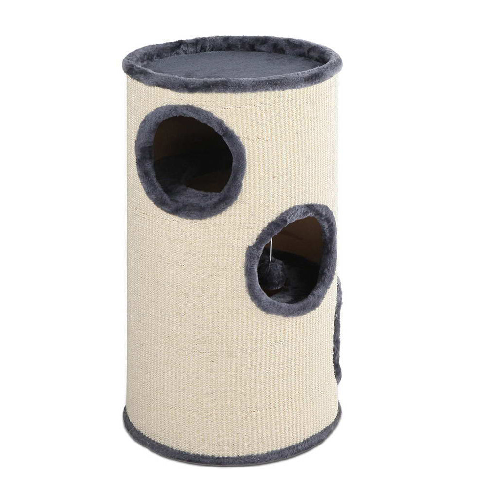 70cm Cat Scratching Post - Grey & White PET-CAT-005P-70-GR