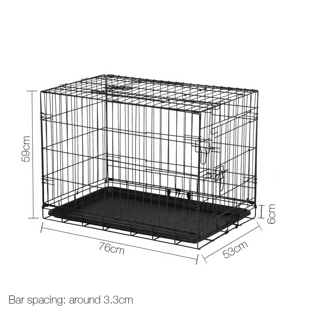 30inch Portbale Foldable Metal Pet Cage - Black PET-DOGCAGE-30
