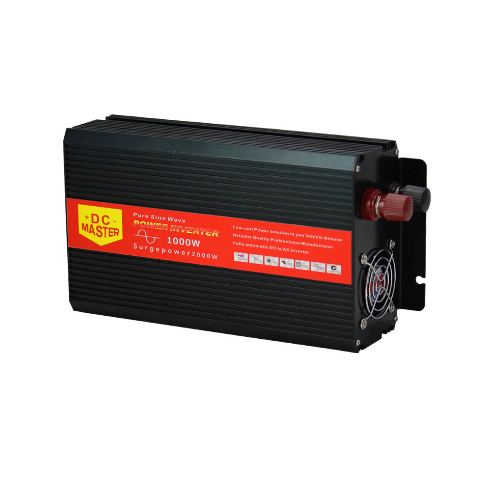 1000W Max 2000W 12V-240V Power Pure Sine Wave Inverter Car Caravan Camping Boat V13-PSI1000-BLK-USB-CY