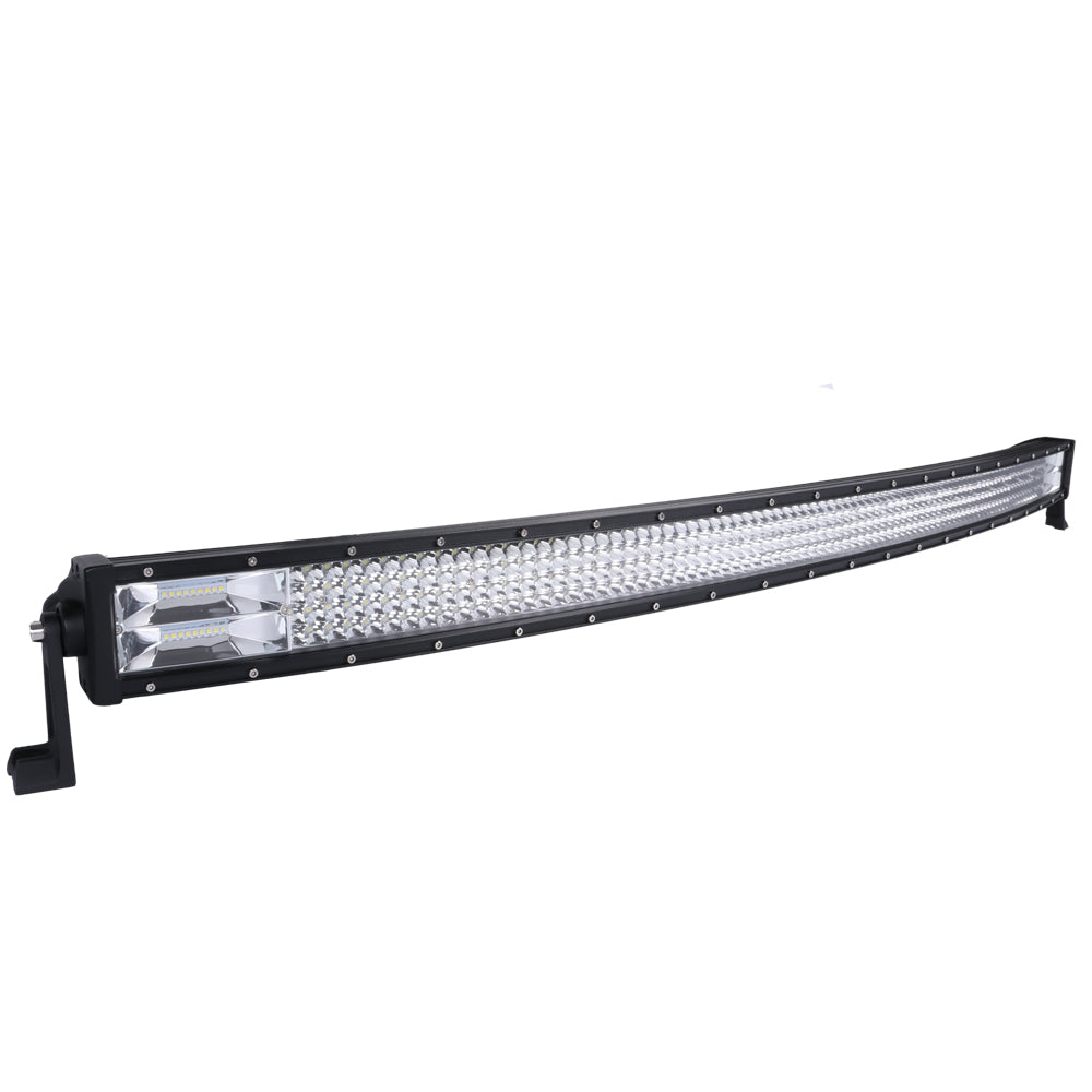 50inch Curved Cree LED Light Bar Spot Flood Combo Beam Work Driving 4WD V13-RFD-QR50BT