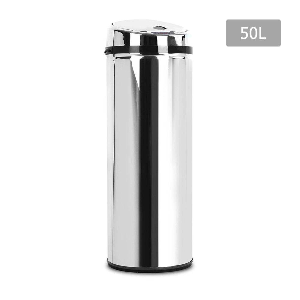 50L Stainless Steel Motion Sensor Rubbish Bin  SB-50L-R01-A