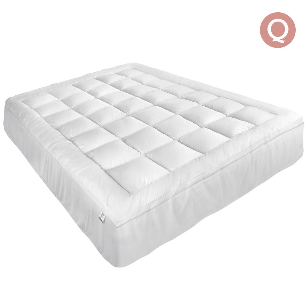 Pillowtop Mattress Topper Memory Resistant Protector Pad Cover Queen TOPPER-PT-Q