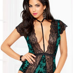 Seven Til Midnight - Simply Gorgeous Teddy Set - Green