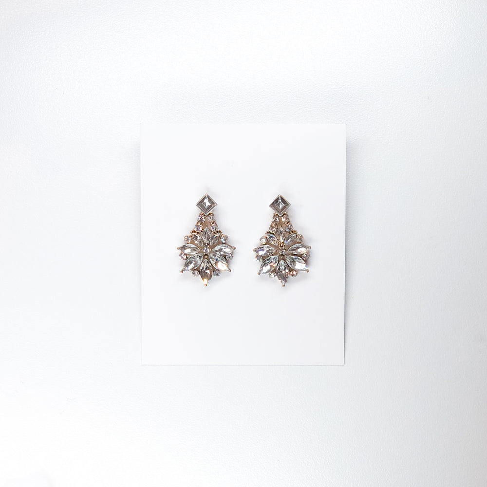 Small Teardrop Diamante Earrings